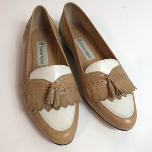 Etienne Aigner vintage leather loafers w tassels